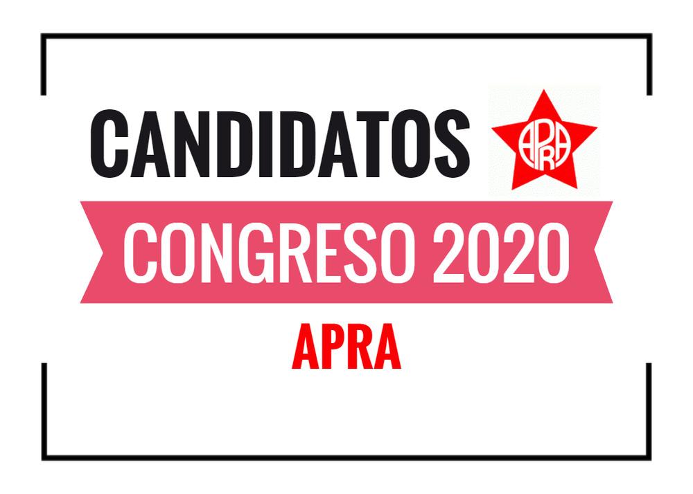 Candidatos al Congreso APRA 2020