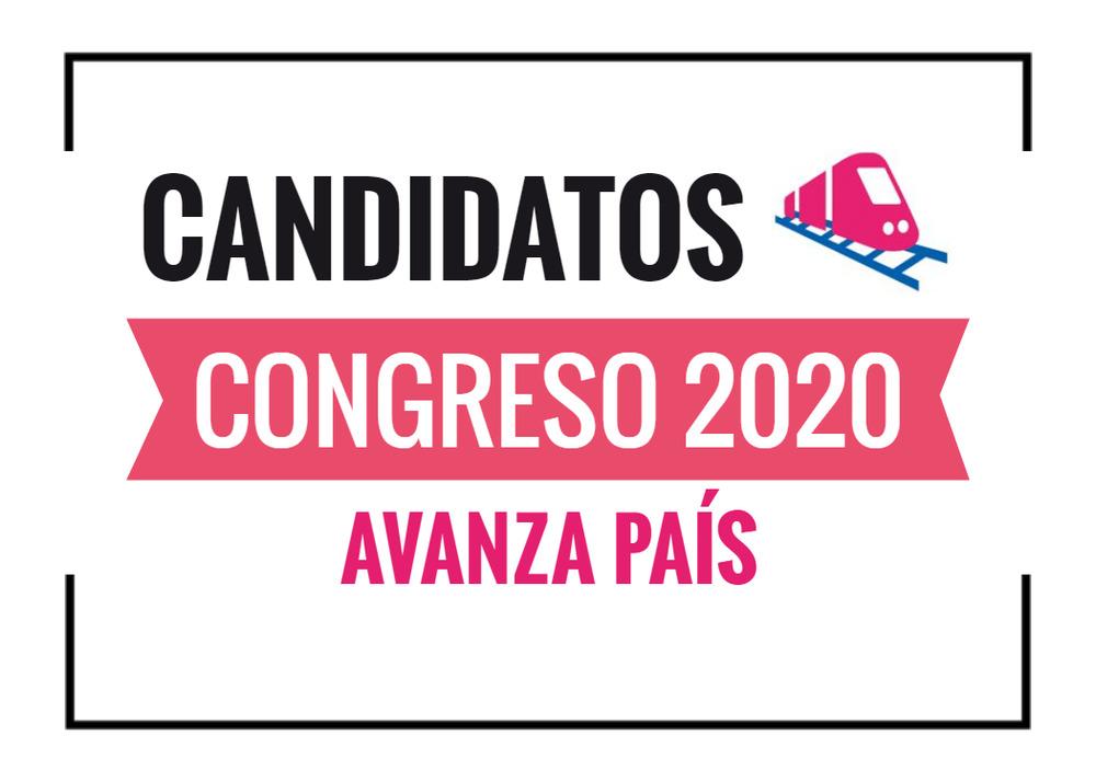 Candidatos al Congreso Avanza País 2020