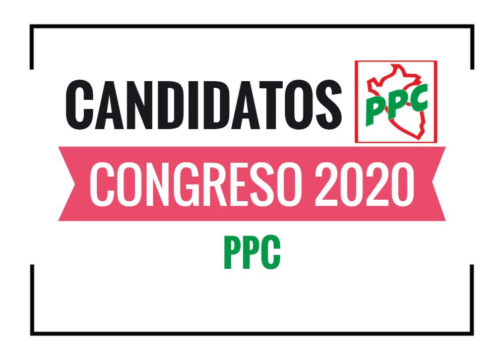 Candidatos al Congreso PPC 2020