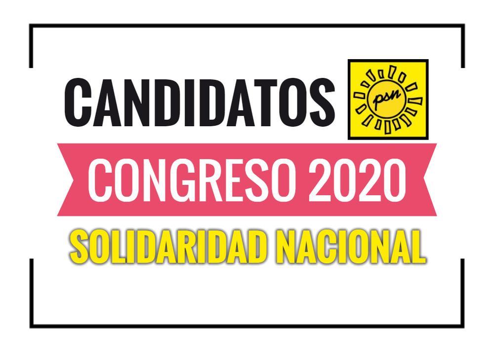 Candidatos al Congreso Solidaridad Nacional 2020