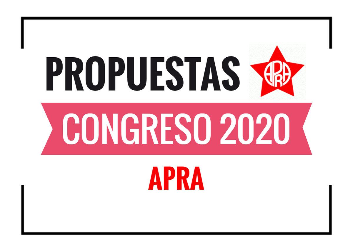 Propuestas APRA Congreso 2020
