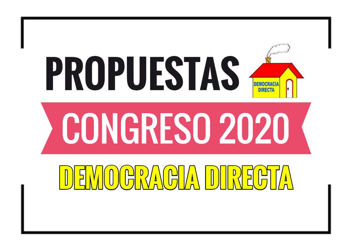 Propuestas de Democracia Directa
