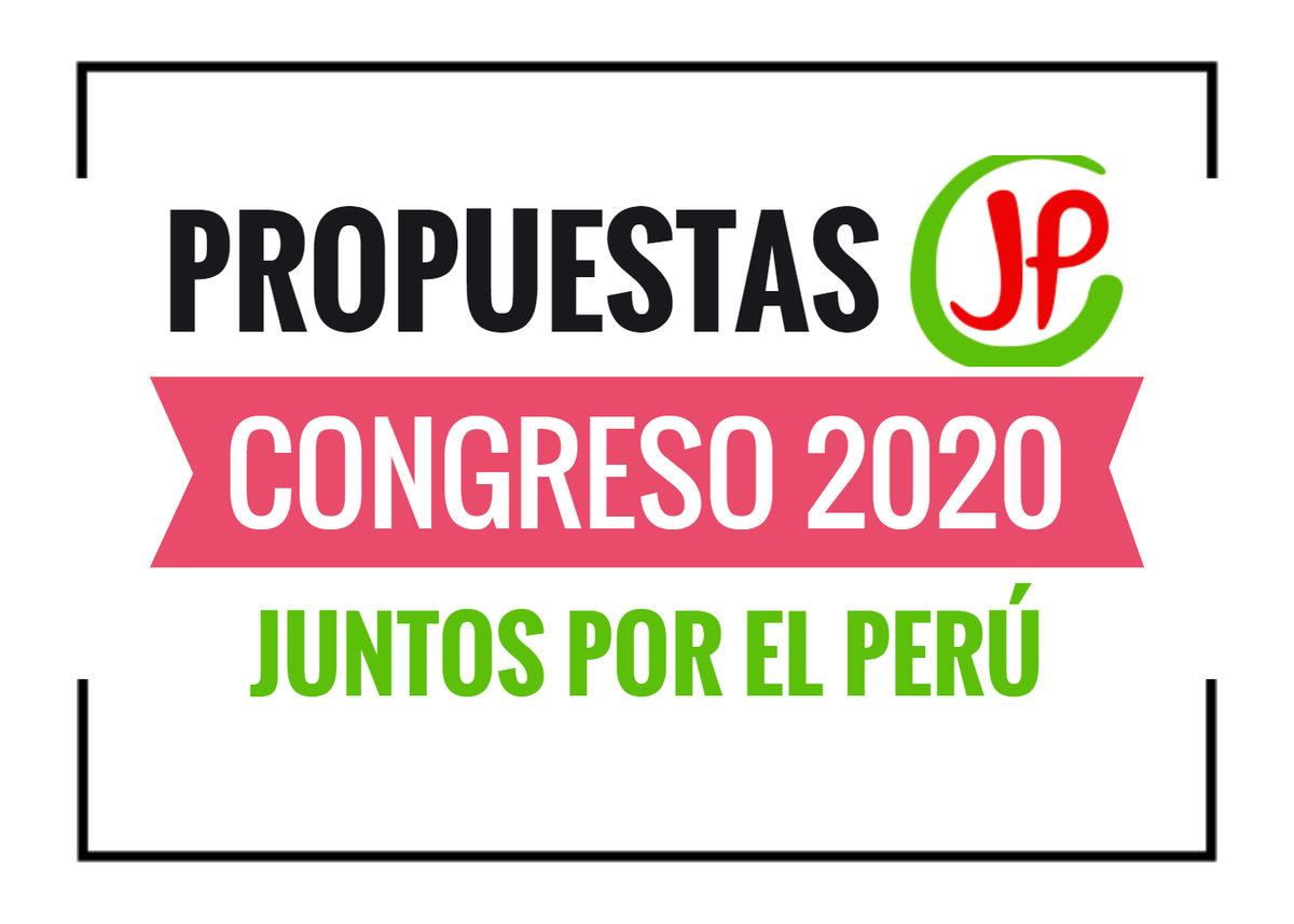 propuestas de Juntos por el Perú