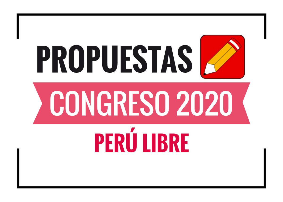 Propuestas de Perú Libre