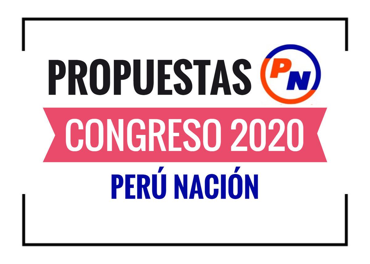 Propuestas de Perú Nación